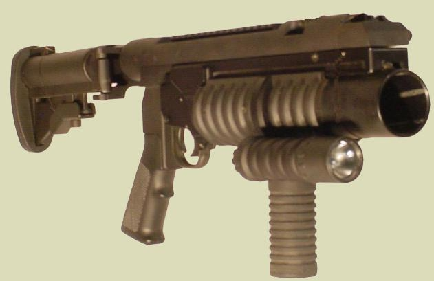 Photo: M203 40mm grenade launcher manufactured by RM Equipment as the M203PI 40mm EGLM on the 40mm grenade launcher Tactical Mount.