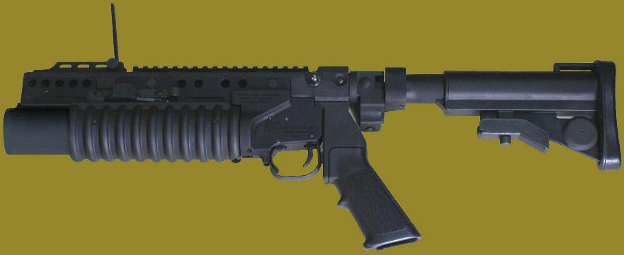 M203PI 40mm Grenade Launcher attached to the standalone